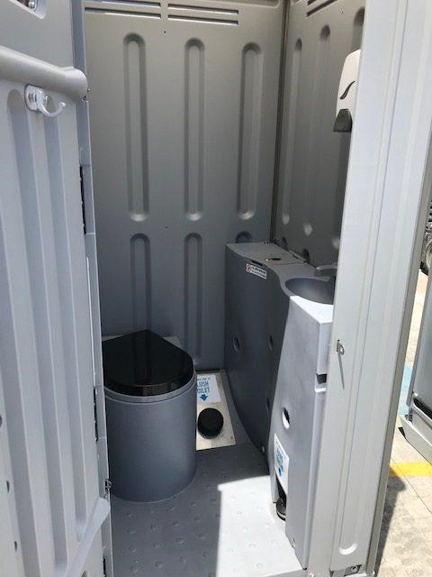 portable event toilets interior