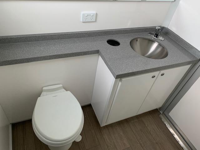 interior twin deluxe toilet hire