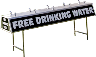 portable drinking stations no background